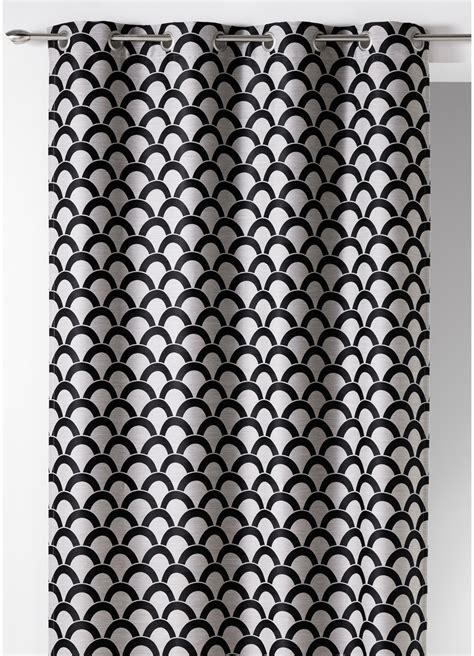 rideau en jacquard 224 imprim 233 s quot ecailles quot noir ivoire