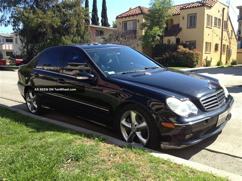 2005 mercedes c230 kompressor black on black loaded