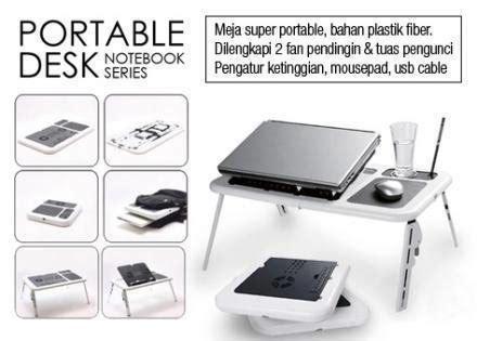 Murah Cooling Pad Dual Fan Type N139 meja laptop e table portable lipat paling murah