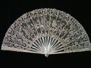lace fans reduction antique lace and mop fan