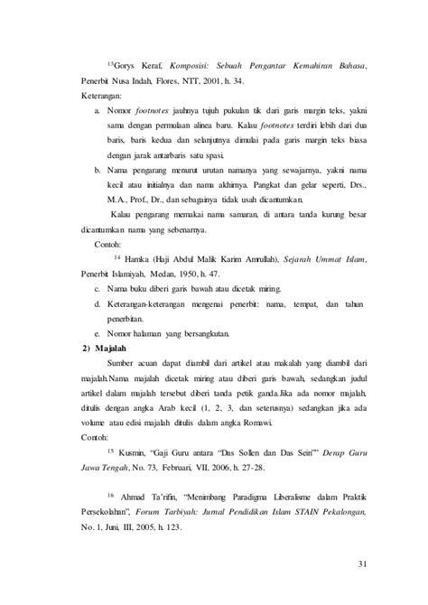 sistematika membuat footnote contoh footnote buku contoh aoi