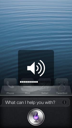 adjust siris volume independently   iphone