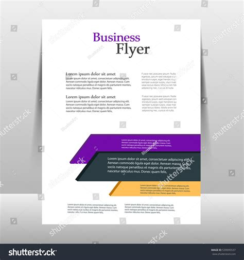 Flyer Design Template Vector Brochure Report Stock Vector 539995537 Shutterstock Report Poster Template
