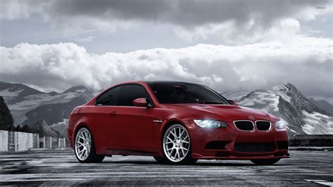 cars bmw red red vossen bmw 3 series front side view wallpaper car