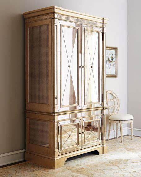 horchow mirrored armoire amelie mirrored cabinet