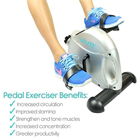 pedal exerciser under desk pedal exerciser by vive portable medical exercise
