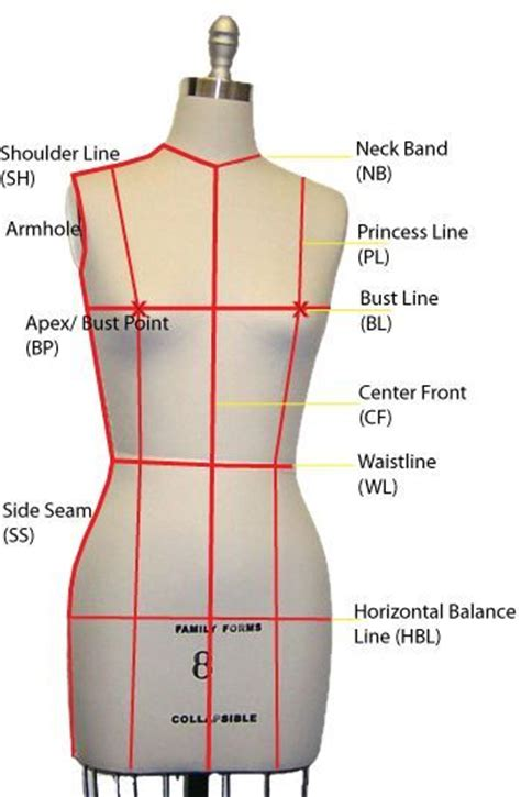 Pattern Making Mannequin | 16 best images about fit measurements guides on