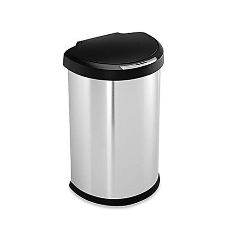 bed bath and beyond garbage cans simplehuman 174 brushed stainless steel fingerprint proof