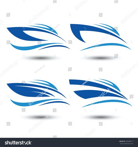 fast boat icon speed boat logo iconvector illustration stock vector