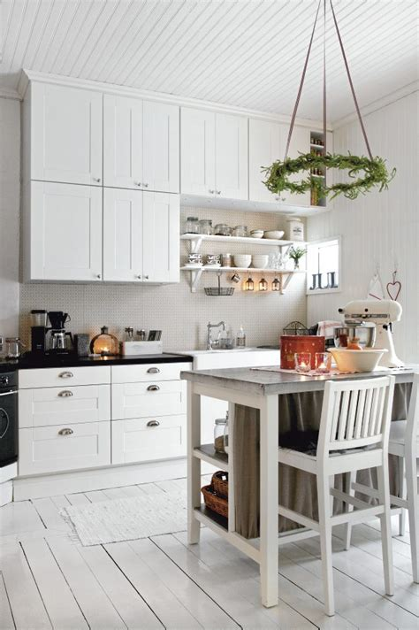 nordic kitchen romantic christmas in white nordic bliss