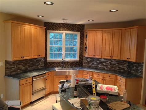 Kitchen Cabinets Designs For Small Kitchens yes or no on window backsplash
