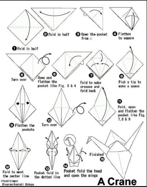 How To Make Crane Origami Step By Step - origami origami birds origami and birds
