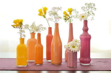 vasi e bottiglie vasi bottiglie dipinte fai da te bottiglie