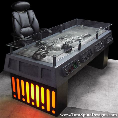 star wars desk han solo frozen in carbonite desk the green head