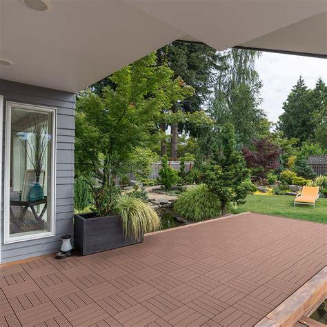 Auf Holz Fliesen 5894 by Wpc Terrassenfliesen Holzfliesen Balkon Garten Terrasse