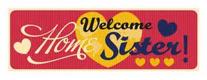 Welcome home banner sister sisters isbn upc 713419672279