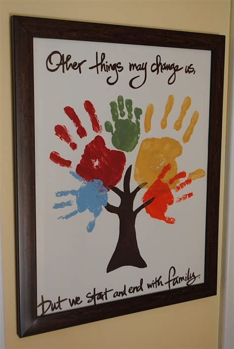 crafts with handprints keepsakes made with the whole family s handprints or
