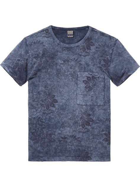 Kemeja Scotch And Soda Original 2 marble wash t shirt t shirt s s s clothing at