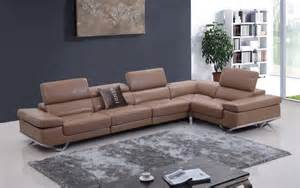contemporary style tufted leather corner sectional sofa