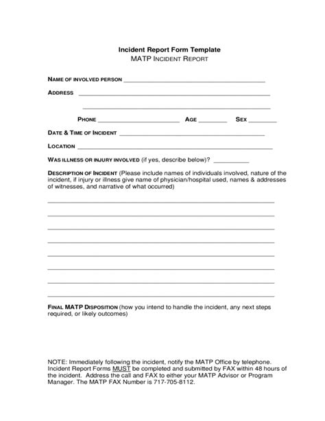 incident report templates free downloads incident report form template free