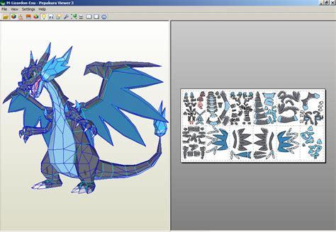 Papercraft Charizard - mega charizard x by rafex17 on deviantart