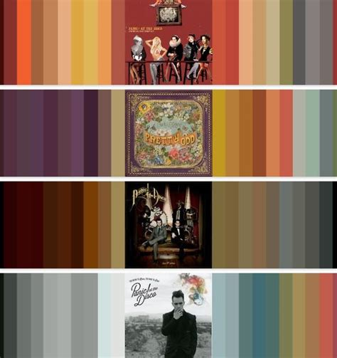 disco colors panic at the disco album color schemes green day bmth