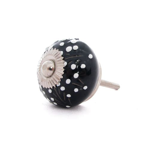 Painted Cabinet Knobs by 6 Black Ceramic Painted Cabinet Cupboard Dresser