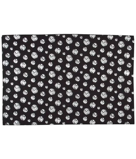 Black And White Table Mats by Sanaa Black And White Cotton Table Mat Set Of 2 Buy
