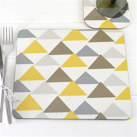 Geometric Pattern Placemats | geometric pattern placemat set by tilliemint loves
