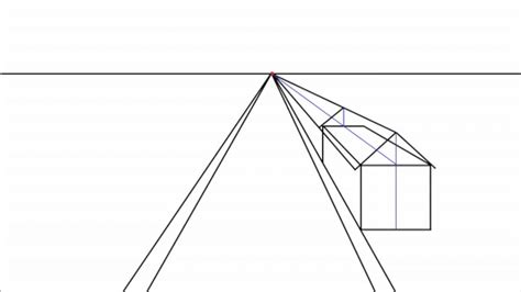 one point perspective house how to draw a peaked roof house in one point perspective youtube