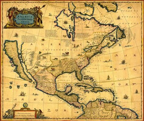 ancient american map america map 1647 beginnings and destinations