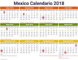 Calendario 2018 Manaus Calendario 2018 Mexico 1 Free Printable