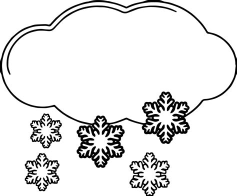 cloud coloring sheet amp snow coloring pages