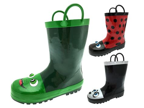 wellies boots boys 3d wellington boots snow wellies pull