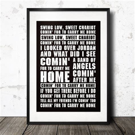 swing low lyrics swing low sweet chariot rugby song lyrics poster by magik
