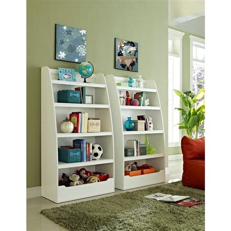 4 shelf bookcase white altra furniture 4 shelf bookcase in white 9627196