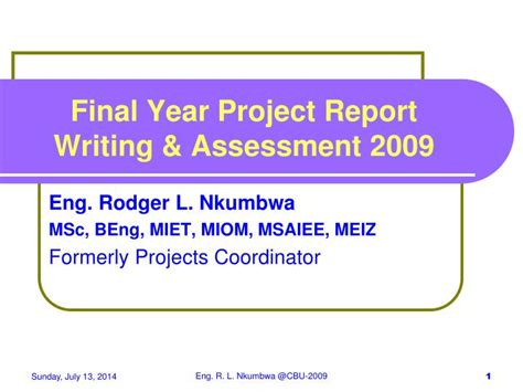 Assessment Report Writing Ppt ppt year project report writing assessment 2009 powerpoint presentation id 1715499
