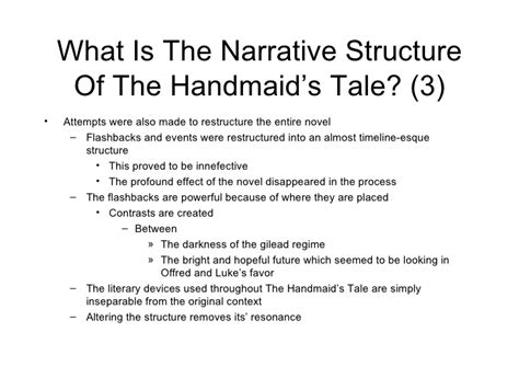 themes within the handmaid s tale handmaids tale timeline presentation notes