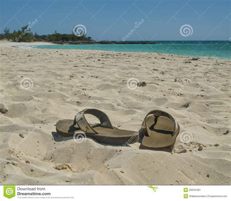 sandals and beaches sandals on the stock image image of pair footware