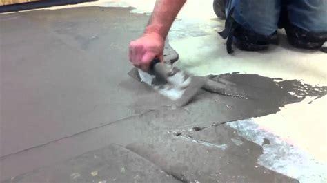How to skim coat a floor   YouTube