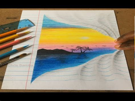 3d illusion l youtube cool 3d drawing optical illusion youtube