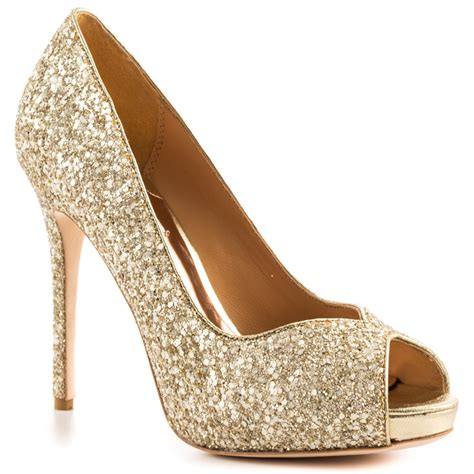 Gold Shoes by Kassidy Platinum Glt Gold Wedding Shoes Glitter Heels