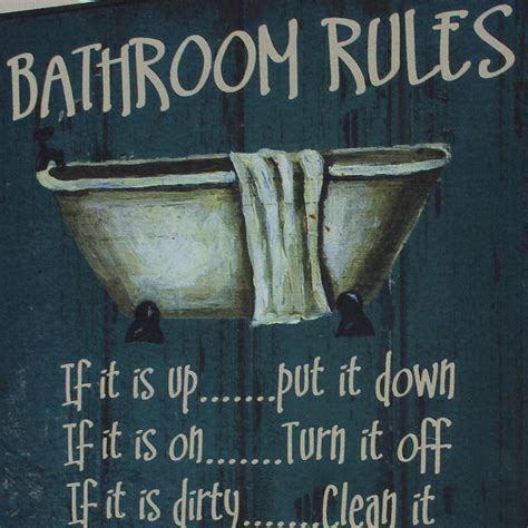 bathroom rules plaque bathroom rules wooden wall plaque melody maison 174