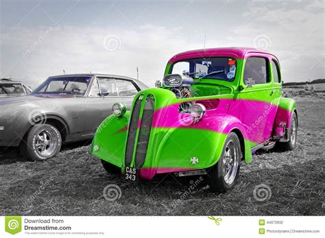 rainbow cars rainbow ford pop car editorial photography image of