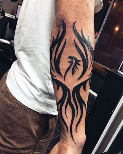 tribal pheonix tattoo tribal forearm tattoos designs ideas and meaning