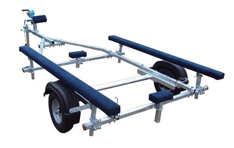 inflatable boat trailer winch extreme 350kg bunk inflatable boat trailer 163 756 00