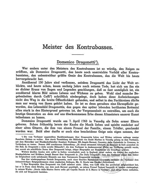 Ad Infinitum - Der Kontrabass von Friedrich Warnecke | im