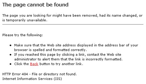 page not found galorath inc iis 6 net framework 4 aspx pages not found osg