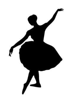 Wallpaper Sticker Dinding Garis Krem Lightblue ballet dancer silhouette decal sticker