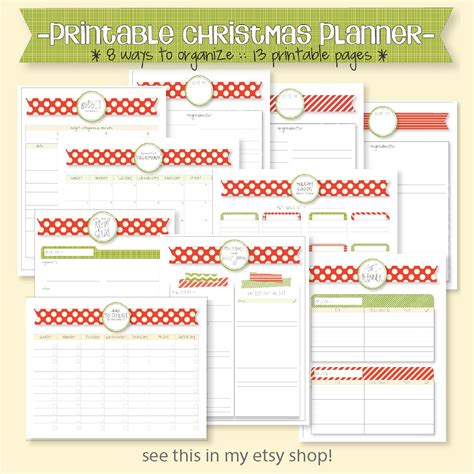 free printable 2016 holiday planner diy planner from a cereal box 2013 free printables